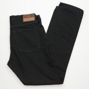 J CREW Black Jeans 32x32 Men's Slim Denim Cotton
